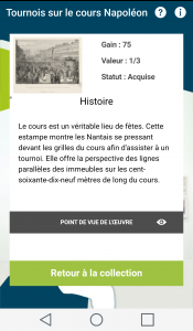 Capture d'écran de l'application Digital Monuments